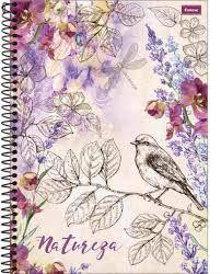 Caderno Foroni 10X1 Natureza Pássaro 200 folhas
