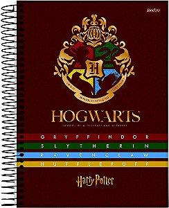 Caderno Jandaia 10X1 Harry Potter Brasão Hogwarts 200 fls