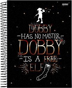 Caderno Jandaia 1X1 Harry Potter Dobby 96 folhas