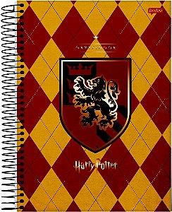 Caderno Jandaia 1X1 Harry Potter Brasão Gryffindor 96 folhas