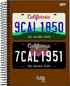 Caderno Jandaia 1X1 Flow Placas California 80 folhas