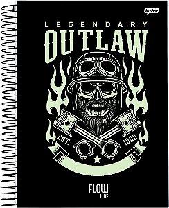 Caderno Jandaia 1X1 Flow Legendary Outlan 80 folhas