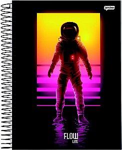 Caderno Jandaia 1X1 Flow Astronauta 80 folhas