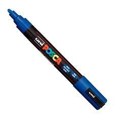 Marcador Uni Posca Pc-5M Azul