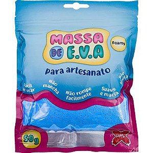 Massa de Eva Make+ Azul Claro 50g