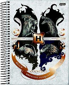 Caderno Jandaia 10X1 Harry Potter College G S H R 160 folhas Jandaia
