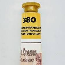 Tinta Óleo Acrilex Amarelo Oxido Transparente 380 20ml