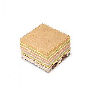 Bloco Adesivo Maxprint Cubo Kraft Color 76mm76mm 400folhas