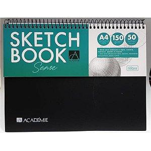 Caderno Tilibra 1x1 Acadêmie Sketchbook 150g 50 folhas