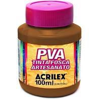 Tinta Pva Acrilex Fosca Castanho Claro 100Ml