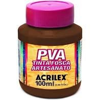 Tinta Pva Acrilex Fosca Chocolate 100Ml