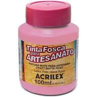 Tinta PVA Acrilex Fosca Rosa Antigo 100ML