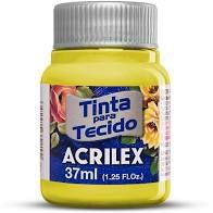 Tinta de Tecido Acrilex Amarelo Limão 37ML