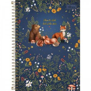 Caderno Tilibra 1/4 Loveland When its dark Espiral 80 folhas