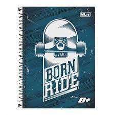 Caderno Tilibra 1/4 D+ Born to ride Espiral 96 folhas