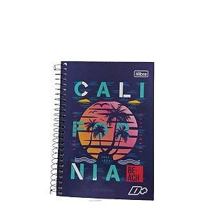 Caderno Tilibra 1/4 D+ Califórnia Espiral 96 folhas