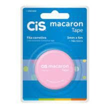 Fita Corretiva Cis Macaron Rosa 5mmx6M