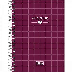 Caderneta Tilibra Acadêmie Bordô 80 folhas