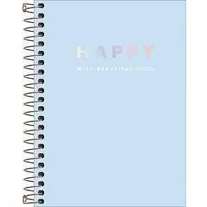 Caderneta Tilibra Happy Azul Espiral 80 folhas