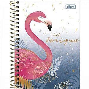 Caderneta Tilibra Aloha I am unique Flamingo 80 folhas