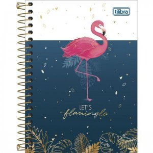 Caderneta Tilibra Aloha Let's flamingle 80 folhas