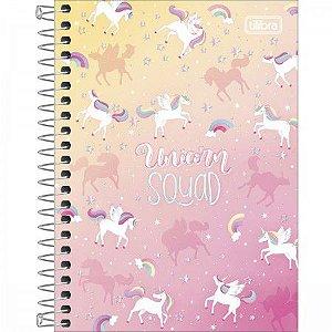Caderneta Tilibra Blink Unicorn Squad 80 folhas