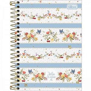 Caderneta Tilibra Jolie Classic capa azul 80 folhas
