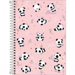Caderno Tilibra 1/4 Lovely Enjoy your friends 80 folhas