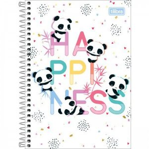 Caderno Tilibra 1/4 Lovely Happiness 80 folhas