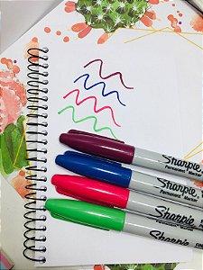 Kit de Marcadores Permanetes Sharpie com 4 cores Fine Cosmic