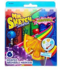 Kit de Marcadores Lávavel Sharpie Aromatizado Sketch 6 cores
