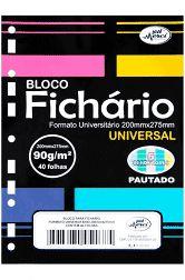 Bloco para Fichário Merci Universitário Candy Color Pautado 40 fls