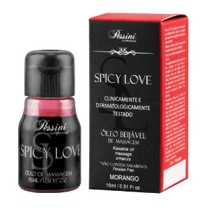 Gel Comestível Spicy Love Hot Morango - Pessini