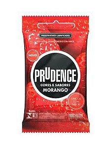 Preservativo Prudence Morango Com 3 Unidades