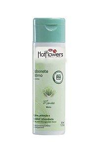 Sabonete Íntimo Líquido - Sabor Menta 35ml - Hot Flowers