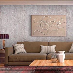 Papel de Parede Texturizado Importado Madeira - Cinza Claro