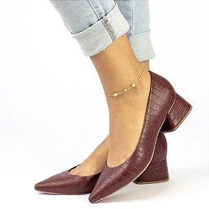 Sapato Croco Marsala