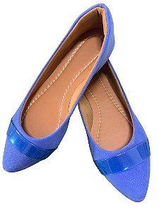 Sapatilha Azul Royal com Vinil