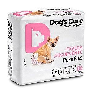FRALDA HIGIÊNICA DOG'S CARE PARA FÊMEAS PP - 6 UNIDADES