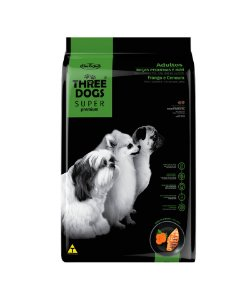 THREE DOGS SUPER PREMIUM FRANGO E CENOURA ADULTOS FRANGO MINI 1KG
