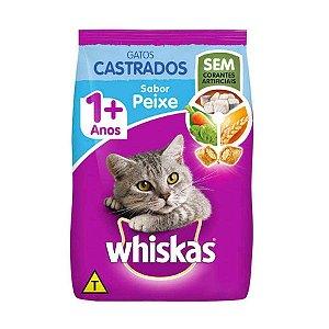 WHISKAS GATOS CASTRADOS PEIXE 3KG