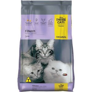 THREE CATS ORIGINAL FILHOTES CARNE 1KG