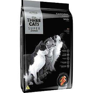 THREE CATS SUPER PREMIUM CASTRADO SALMÃO 3KG