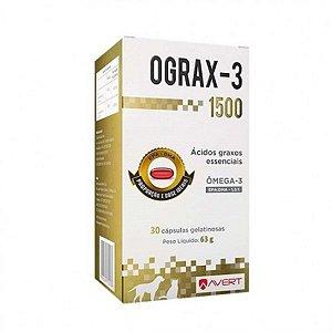 OGRAX-3 SUPLEMENTO NUTRICIONAL PARA CÃES 1500MG - 30 CAPSULAS