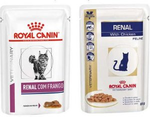 ROYAL CANIN SACHÊ FELINE VETERINARY DIET RENAL FRANGO PARA GATOS 85G
