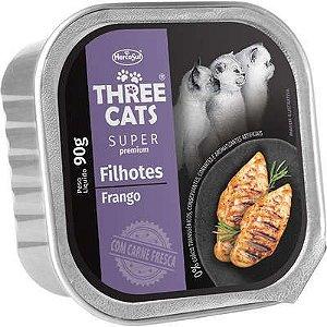 THREE CATS SUPER PREMIUM PATÊ FILHOTES FRANGO 90G