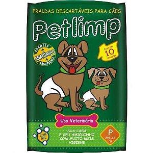 FRALDA PARA CÃES PETLIMP GRANDE C/ 06 UNID