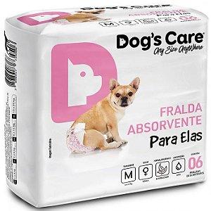 FRALDA HIGIÊNICA DOG'S CARE PARA FÊMEAS M - 6 UNIDADES