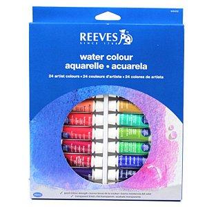 Aquarela Reeves 24 Cores em Bisnaga