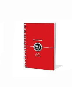 Sketchbook Para Desenho Pixel Art A5 Vermelho